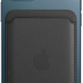 Apple kaarditasku iPhone Leather Wallet + MagSafe, must
