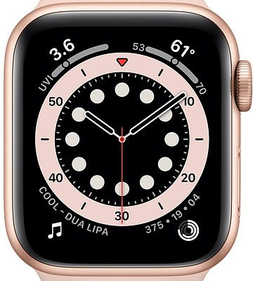 Apple Watch 6 GPS + Cellular 40mm Sport Band, gold/pink sand (M06N3EL/A)