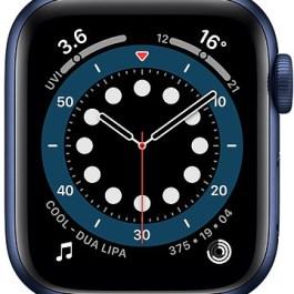 Apple Watch 6 GPS + Cellular 40mm Sport Band, blue/deep navy (M06Q3EL/A)