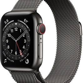 Apple Watch 6 GPS + Cellular 40mm Stainless Steel Milanese Loop, graphite (M06Y3EL/A)