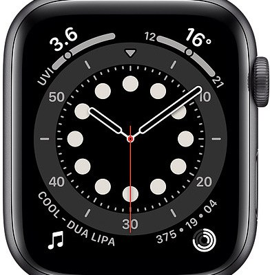 Apple Watch 6 GPS + Cellular 44mm Sport Band, space grey/black (MG2E3EL/A)