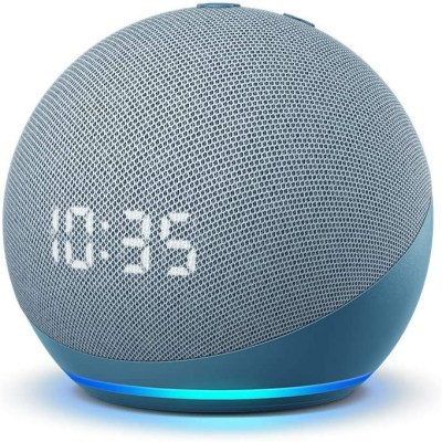 Amazon Echo Dot 4 Clock, twilight blue
