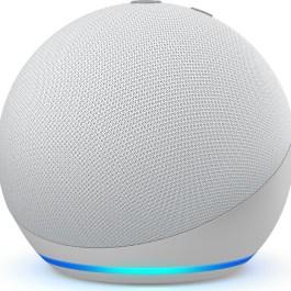 Amazon Echo Dot 4, glacier white