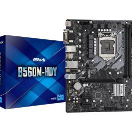 Mainboard ASROCK Intel B560 LGA1200 MicroATX 1xPCI-Express 3.0 1x 1xPCI-Express 4.0 16x 2xM.2 Memory DDR4 Memory slots 2 1x15pin D-sub 1xDVI 1xHDMI 2xAudio-In 1xAudio-Out 2xUSB 2.0 4xUSB 3.2 1xPS/2 1xRJ45 B560M-HDV