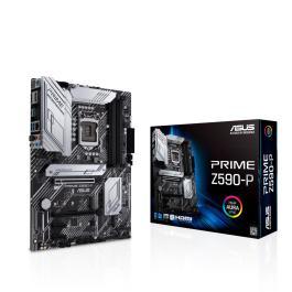 Mainboard|ASUS|Intel Z590 Express|LGA1200|ATX|2xPCI-Express 3.0 1x|1xPCI-Express 3.0 4x|1xPCI-Express 4.0 16x|3xM.2|Memory DDR4|Memory slots 4|1xHDMI|1xDisplayPort|2xAudio-In|3xAudio-Out|2xUSB 2.0|1xUSB type C|3xUSB 3.2|1xPS/2|1xOptical S/PDIF|1xRJ45|PRIMEZ590-P