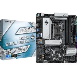 Mainboard ASROCK Intel B560 LGA1200 MicroATX 2xPCI-Express 3.0 1x 1xPCI-Express 4.0 16x 2xM.2 Memory DDR4 Memory slots 4 1xHDMI 1xDisplayPort 2xAudio-In 3xAudio-Out 2xUSB 2.0 4xUSB 3.2 1xPS/2 1xOptical S/PDIF 1xRJ45 B560MSTEELLEGEND