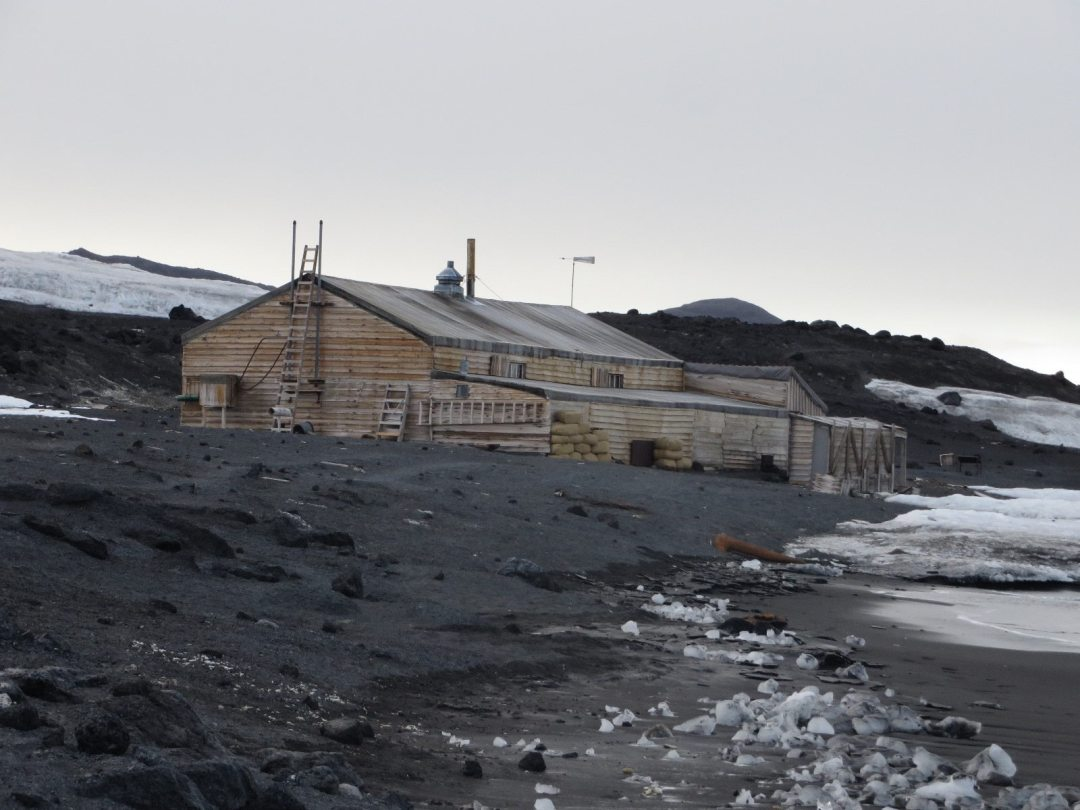 Cape Evans hut as seen from the beach