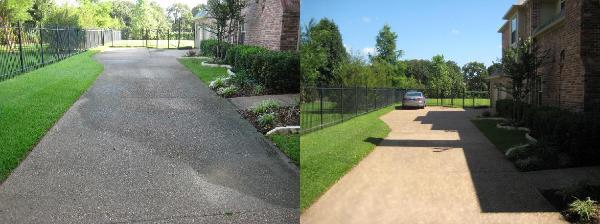 Sidewalks & Driveway Powerwashing