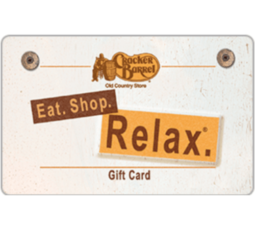 85 Was 100 Cracker Barrel Old Country Store Gift Card