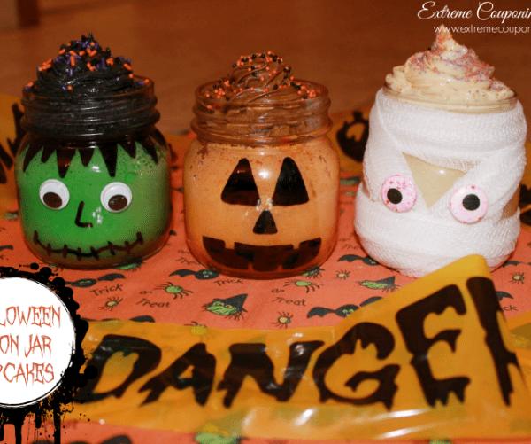 Halloween Mason Jar Cupcakes
