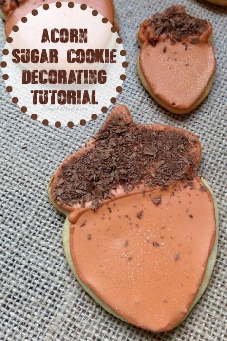 Acorn Sugar Cookies Decorating Tutorial | Frugal Mom Eh!