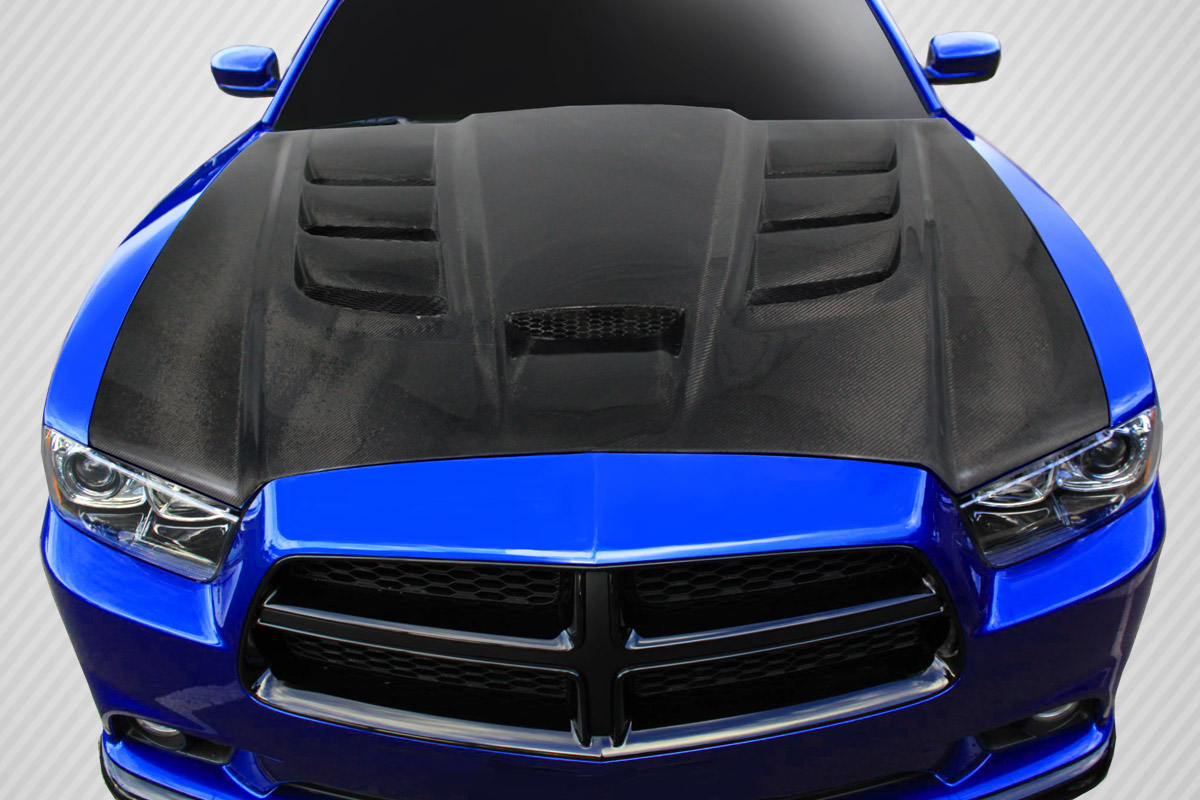 Charger Dodge Hood Chome
