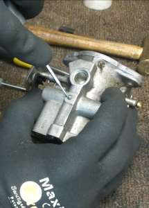 Removing the Carburetor Lead Shot Plug