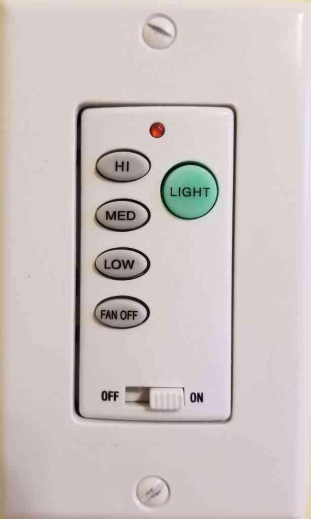 Ceiling Fan remote wall switch