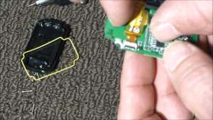 Removing the GoPro Remote Circuit Board Ribbon Cable
