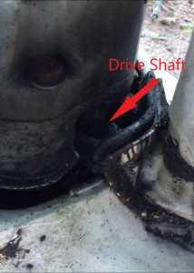 Stuck Drive Shaft view of shaft