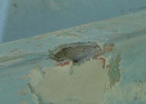 missing chunk fiberglass gelcoat
