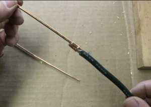 welding pen crimped copper rod