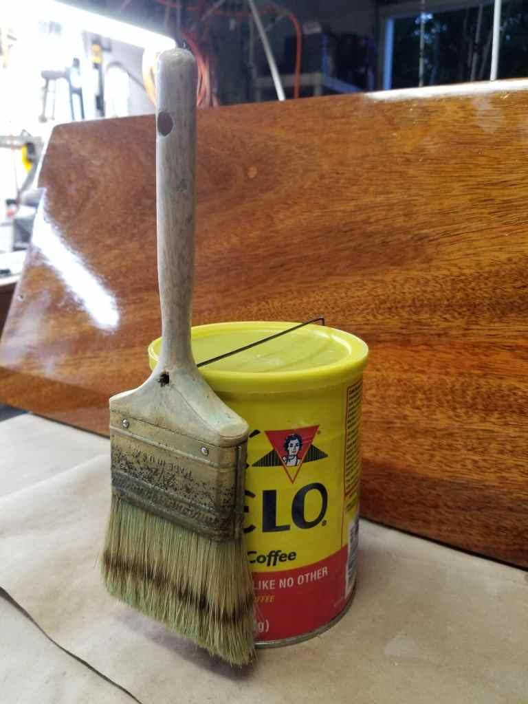 suspending a paint brush