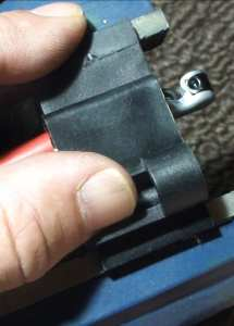 MSD Spark Plug Wire in Vise