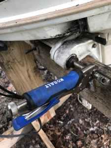 Vice Grip Breaking Outboard Steering Rod Loose