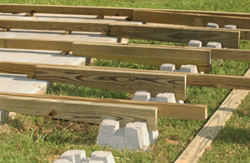 building a deck over a patio slab