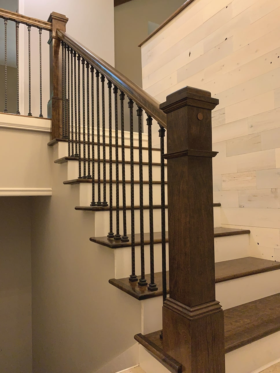 Diy Stair Rail Installation Extreme How To | Replacement Wood Stair Balusters | Cheap | Horizontal | Hallway | Split Entry | Cast Iron