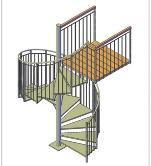 How To Build A Spiral Staircase Extreme How To   5 Foot Spiral Staircase   Metal   Hayden Gray   Reroute Galvanized   Steel   Handrail