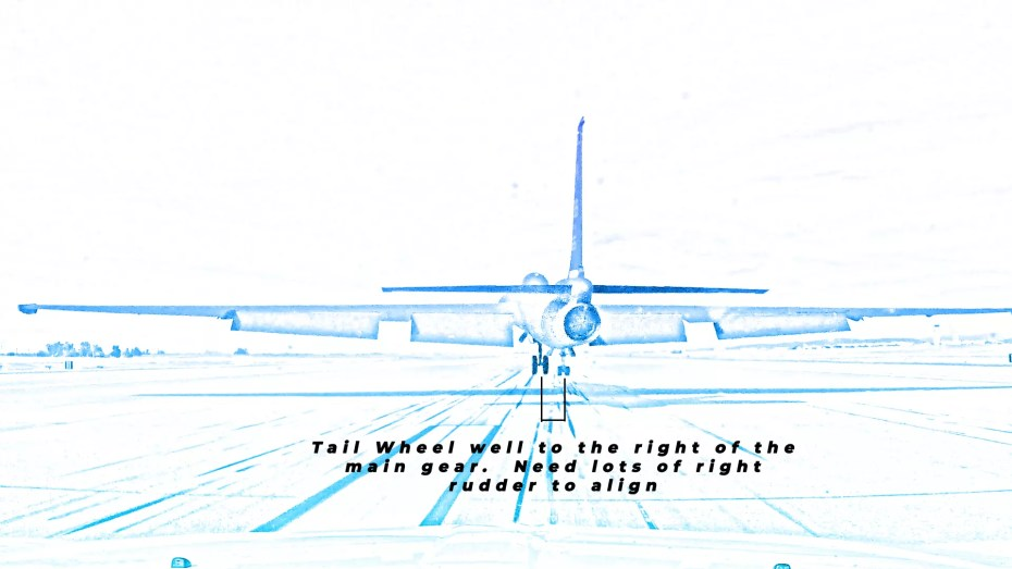 diagram of U-2 showing jet alignment down the runway