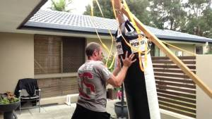 How to hang a heavy bag