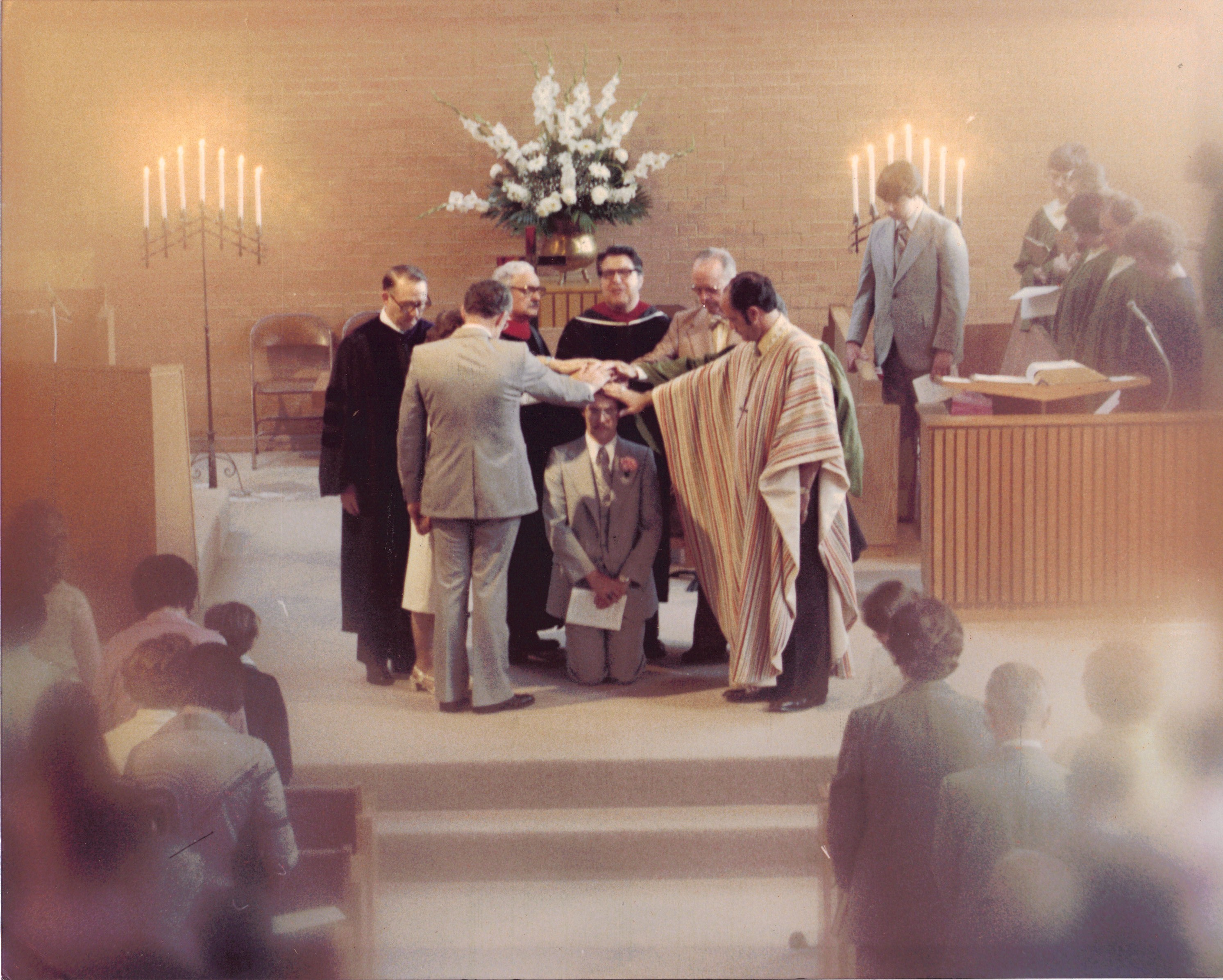 Laying on of Hands Cermony--David Waggoner's Ordination, May 20, 1979