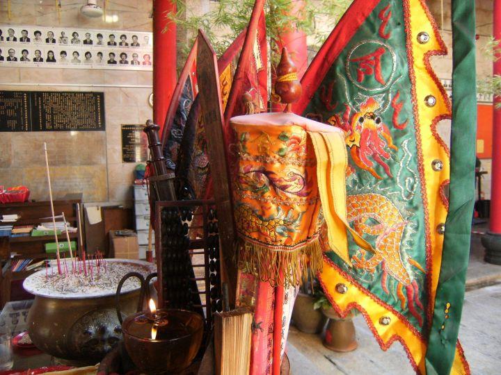 Estandartes en templo chino Georgetown