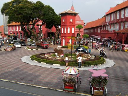 Plaza holandesa, Malaca, Malasia