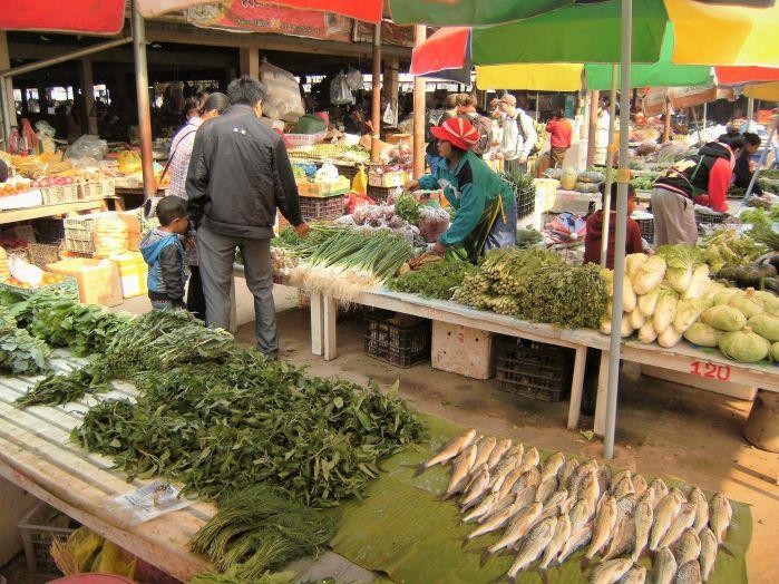Mercado, Luang Namtha, Laos