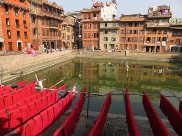 Estanque, Bhaktapur, Nepal