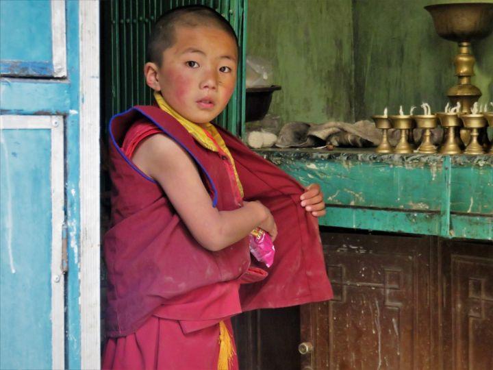 Pequeño monje budista, Katmandú, Nepal