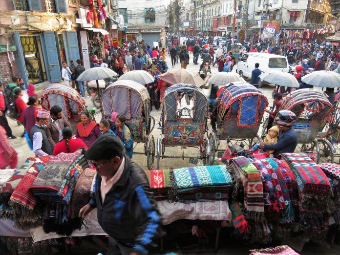 Plaza en Katmandú, Nepal