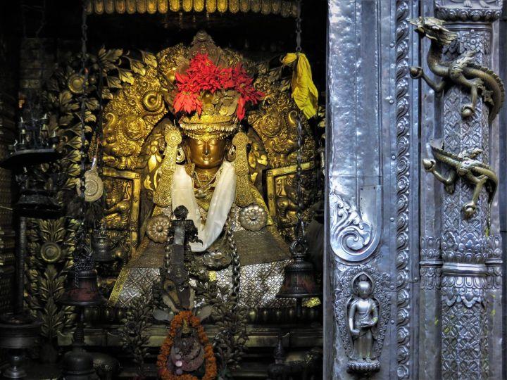 Shree Shakya Muna Buddha, Deidad hindú, Golden Temple, Lalitpur/Patan, Nepal