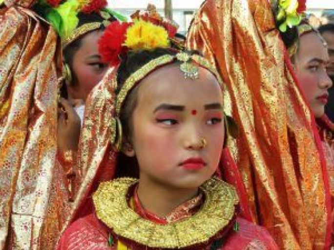 Danzas escolares, Pokhara, Nepal