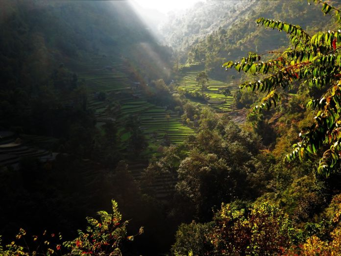 Valle del río Arje Valley, Tatopani, Nepal