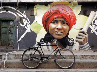 Mural en Benarés, Varanasi, India