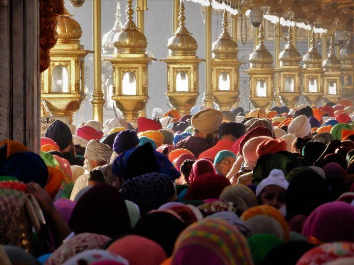 Haciendo cola, Templo Dorado Golden Temple, Amritsar, India