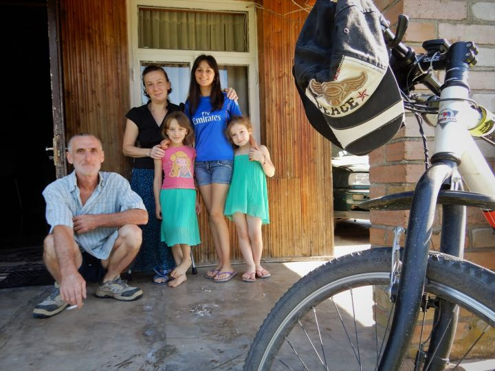 Familia en Khorga, Georgia