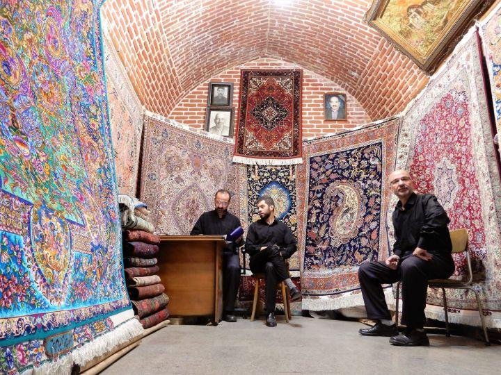 Tienda de Alfombras, Bazar de Tabriz, Irán