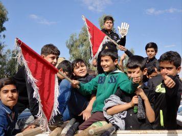 Niños en Arbein, Iran