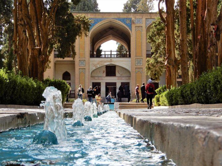 Jardín Fin Garden y palacio, Kashan, Iran