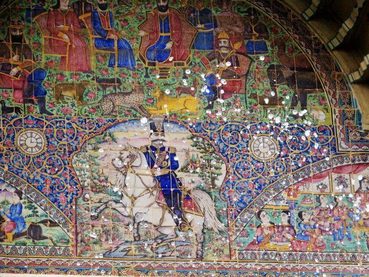 Mosaico de Jardín Eram Garden, Shiraz, Iran