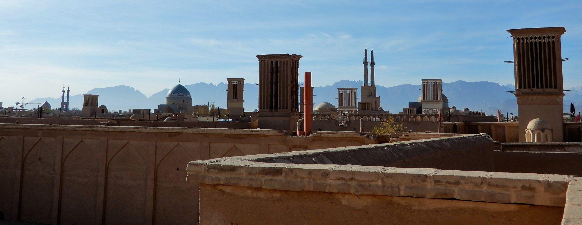 Vista panorámica de Yazd, Iran