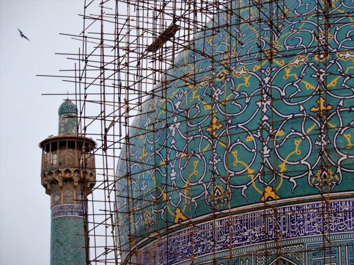 Detalle de cúpula Mezquita del Shah o Abbasi Mosque, Isfahan, Iran