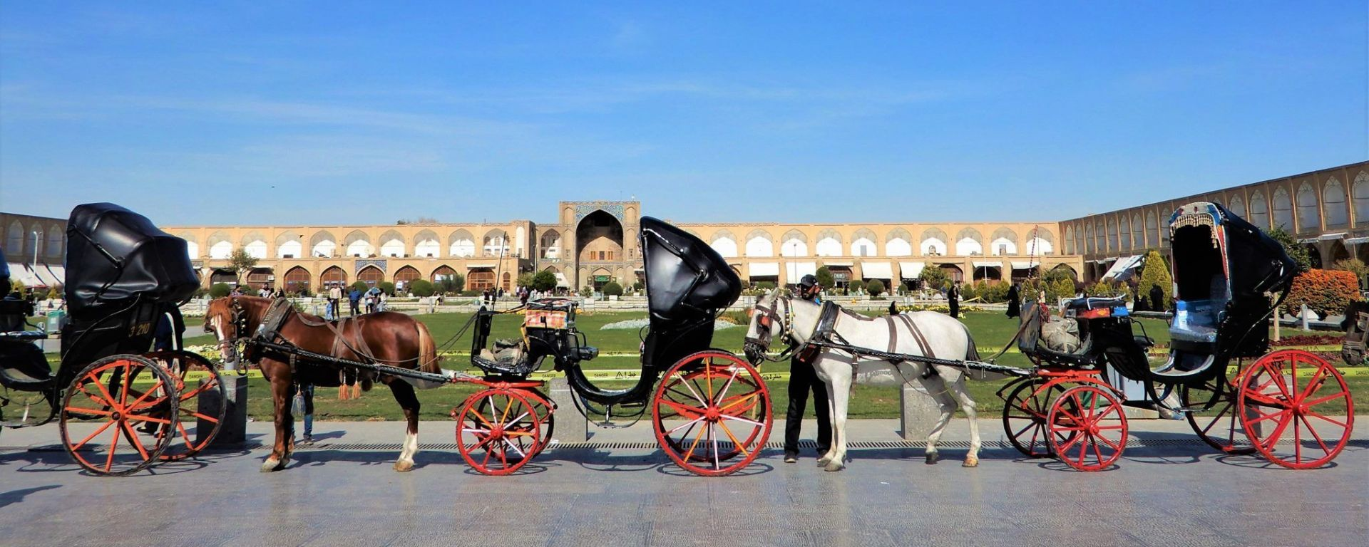 Carrueajes en Naghsh-i Jahan, Isfahan, Iran